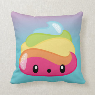 Funny Rainbow Poop Emoji Pillow