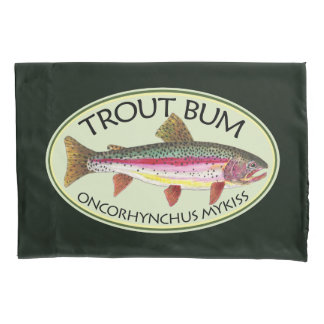 Funny Rainbow Trout Bum Pillowcase