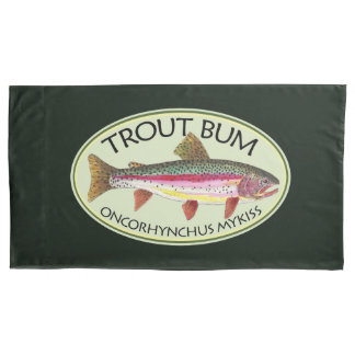 Funny Rainbow Trout Bum Pillowcase