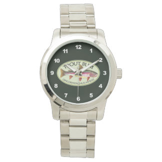 Funny Rainbow Trout Bum Watch