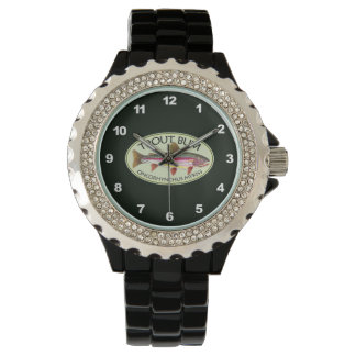 Funny Rainbow Trout Bum Wrist Watches