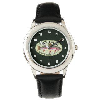 Funny Rainbow Trout Bum Wristwatch