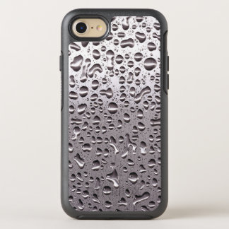 Funny Raindrops on Metal Stainless Steel Look OtterBox Symmetry iPhone 7 Case