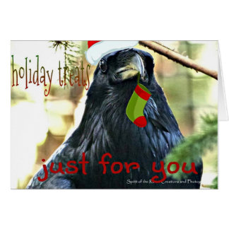 Funny Raven Christmas Greeting Card