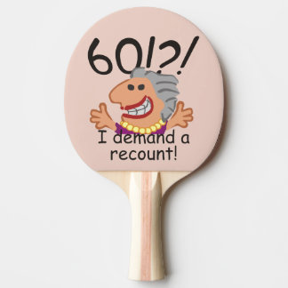 Funny Recount 60th Birthday Ping-Pong Paddle