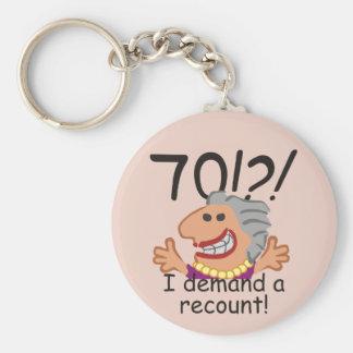 Funny Recount 70th Birthday Keychain