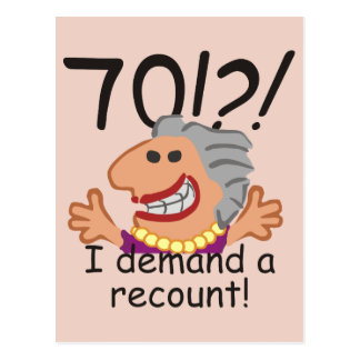 Funny Recount 70th Birthday Postcard