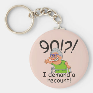 Funny Recount 90th Birthday Keychain