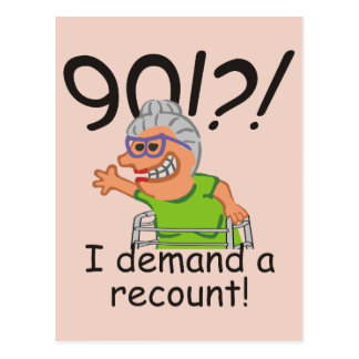 Funny Recount 90th Birthday Postcard