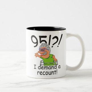 Funny Recount 95th Birthday Two-Tone Coffee Mug