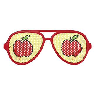 Funny red apple fruit party shades sunglasses