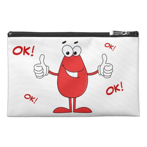 Funny Red Cartoon Travel Accessory Bags