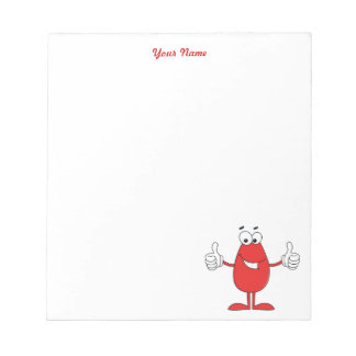Funny Red Cartoon Notepad
