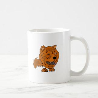 Funny Red Chow Chow Dog Art Coffee Mug
