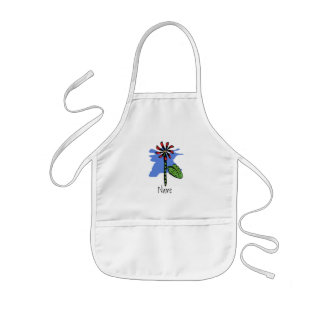 Funny Red Flower Kids Apron