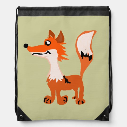 Funny Red Fox Art Backpack
