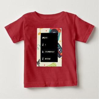 Funny Red Midi Baby Shirt for Music Parents