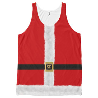 Funny Red Santa Suit Festive Christmas All-Over-Print Tank Top