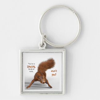 Funny Red Squirrel Photo | Special Kind of Nuts Keychain