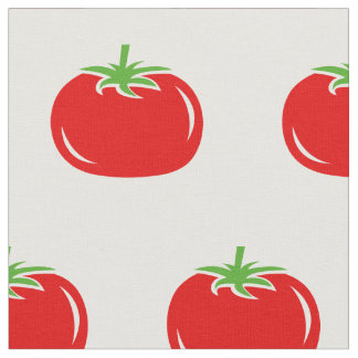 Funny red tomato pattern DIY textile fabric