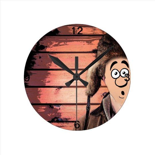 Funny Redneck Hillbillly Man Round Clock