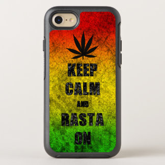 Funny Reggae Keep Calm and Rasta On Cool OtterBox Symmetry iPhone 7 Case