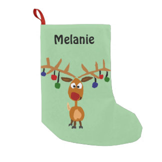 Funny Reindeer Art Christmas Stocking