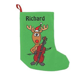 Funny Reindeer Christmas Stocking Small Christmas Stocking