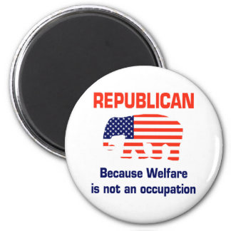 Funny Republican - Welfare 2 Inch Round Magnet