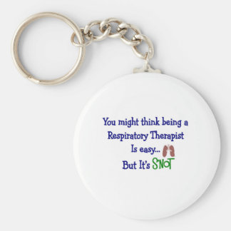 Funny Respiratory Therapy Gifts Basic Round Button Keychain