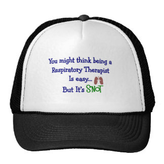 Funny Respiratory Therapy Gifts Trucker Hat