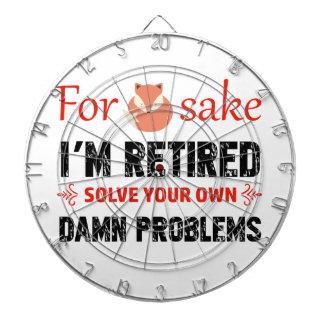 Funny Retired designs Dartboard