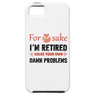 Funny Retired designs iPhone 5 Covers