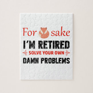 Funny Retired designs Jigsaw Puzzle