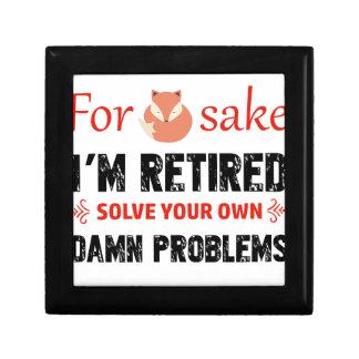 Funny Retired designs Keepsake Box