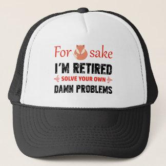 Funny Retired designs Trucker Hat