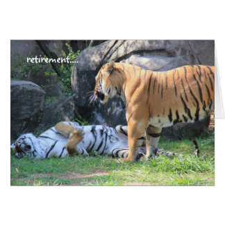 Funny Retirement Card, sleeping tiger Card