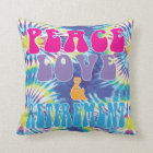 Funny retirement gift Peace Love & Retirement Throw Pillow
