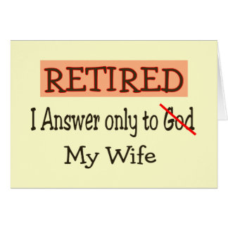 Funny Retirement Gifts Greeting Card