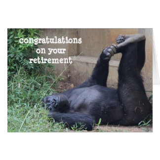 Funny Retirement, Gorilla Exercise Card
