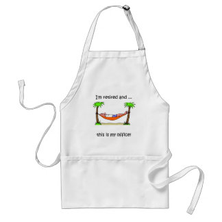 Funny retirement humor standard apron