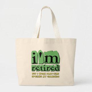 funny retirement jumbo tote bag