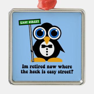 funny retirement metal ornament