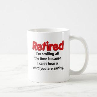 Funny Retirement Saying Classic White Coffee Mug