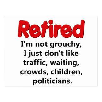 Funny Retirement Saying Postcard
