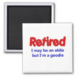 Funny Retirement Saying Square Magnet