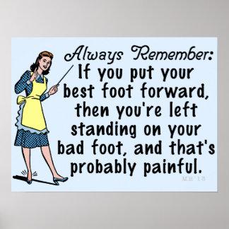 Funny Retro Best Foot Demotivational Poster