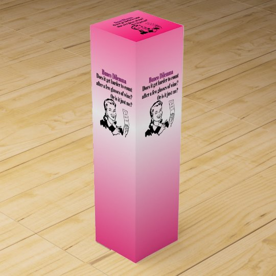 Funny Retro Bunco Gift Wine Box