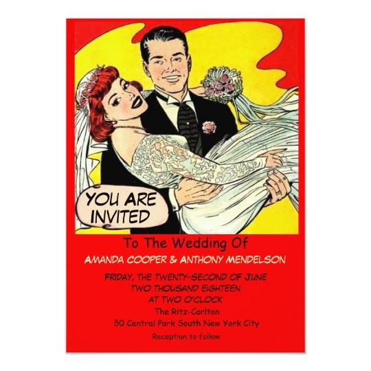 Funny retro comic card