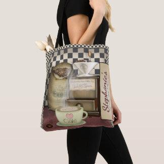 Funny Retro Diner Coffee Shop Café Tote Bag